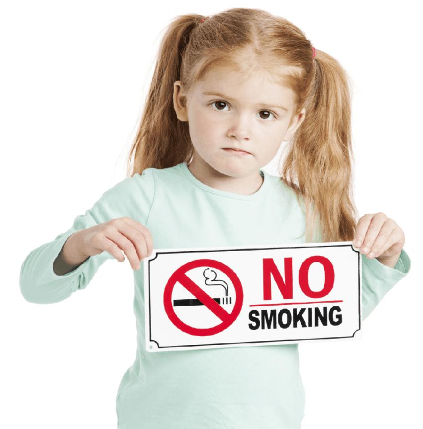vietato fumare in presenza di bambini