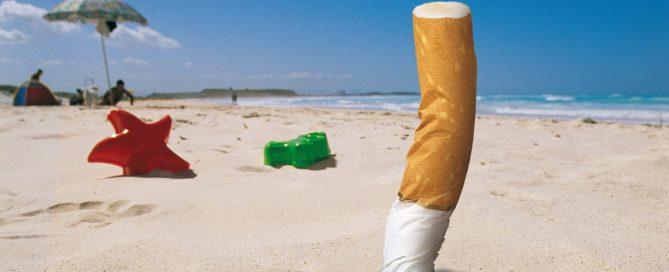 Vietato fumare in spiaggia